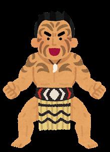 マオリ族のハカのイラスト1