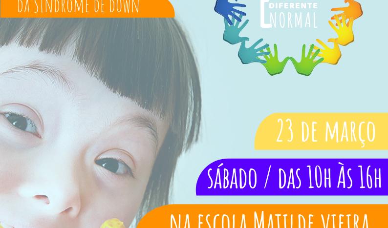 Evento alusivo ao dia da Sindrome de Down acontece dia 23