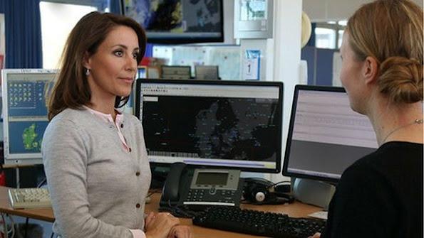 Princess Marie of Denmark visited Denmark Meteorology Institute in Copenhagen.
