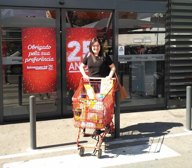 blogue de casal; ganhar; ganhar carrinho no supermercado, aniversário intermarché