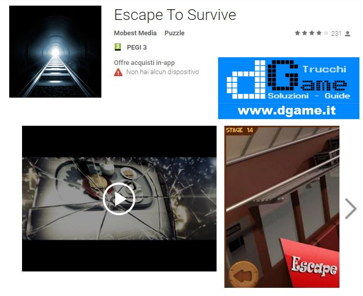 Soluzioni Escape To Survive di tutti i livelli | Walkthrough guide