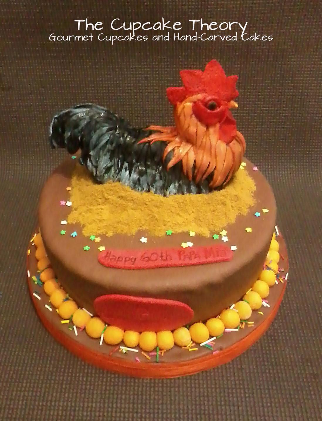 anti drama rooster cake