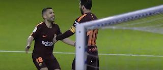 برشلونة يحقق لقب الليجا فاز على ديبورتيفو 4-2 وميسى يسجل هاتريك