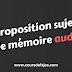 Proposition sujet de mémoire en audit
