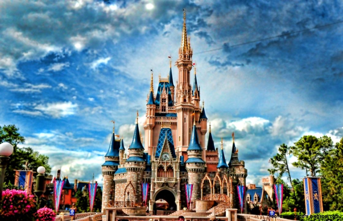Landscape Wallpaper Pink Blue Disney Castle Hd Wallpapers | Wallpapers Box