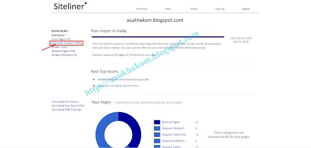 Cara Mengecek Duplicate Konten Blog dengan Siteliner