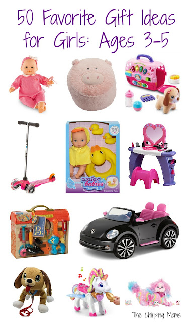 50 Favorite Gift Ideas for Girls, Ages 3-5 || The Chirping Moms