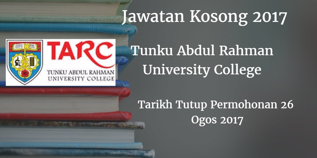 Jawatan Kosong TARC 26 Ogos 2017