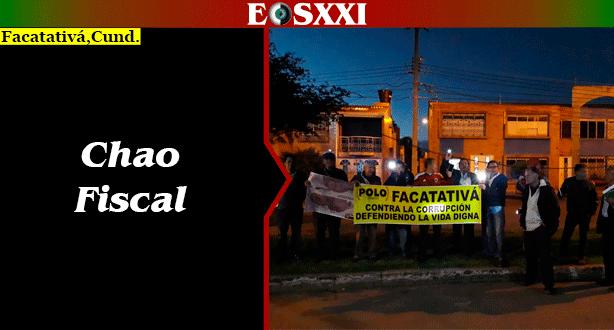 Facatativá se unió a la manifestación contra Néstor Humberto Martínez
