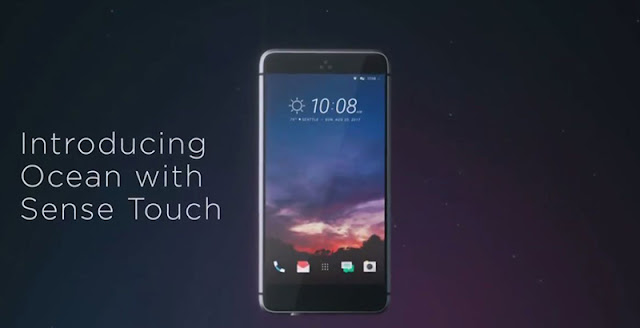 Điện thoại với khung sườn cảm ứng, ý tướng khá độc đáo của HTC Ocean
