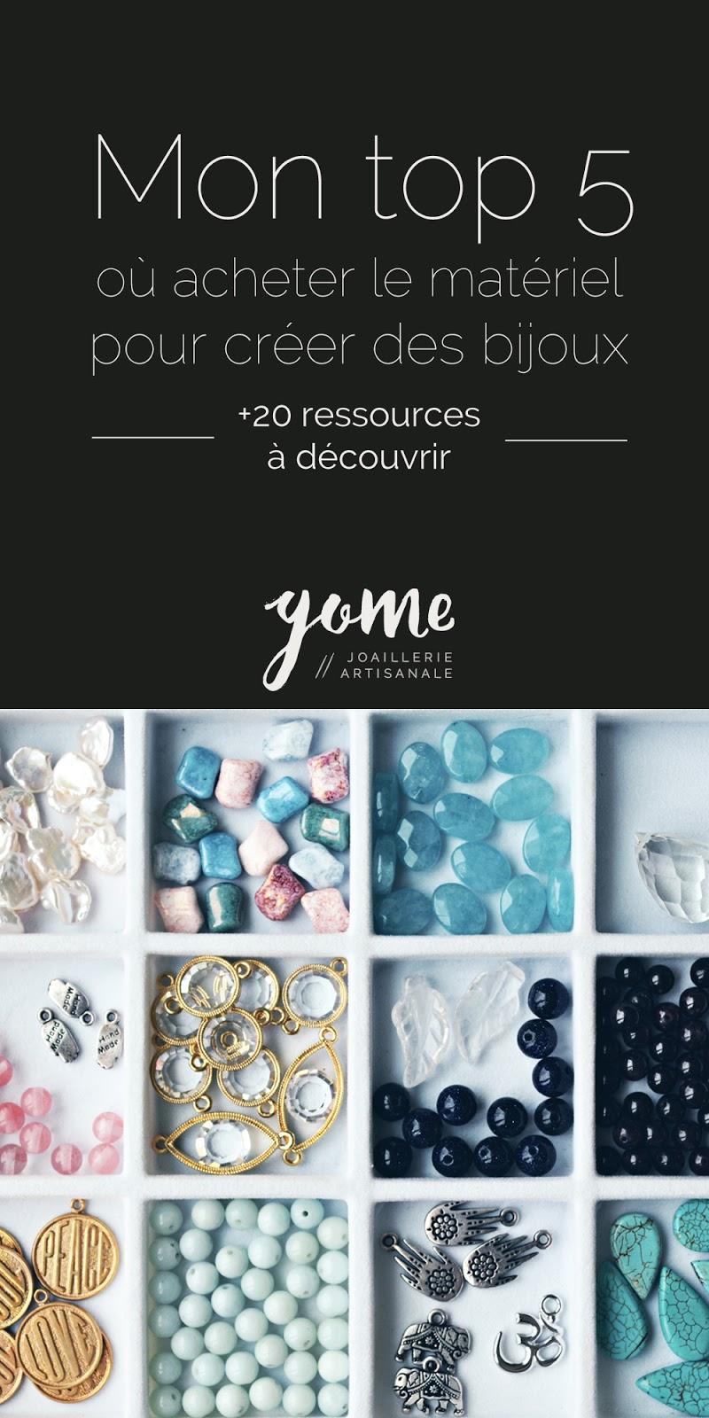 mon top 5 ou acheter le mate riel pour cre er des bijoux gome metalsmith joaillerie artisanale. Black Bedroom Furniture Sets. Home Design Ideas