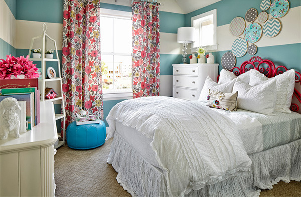 floral curtains bedroom