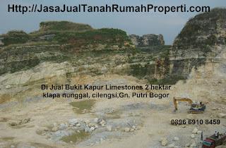 Di jual Tanah Bukit Kapur deposite limastone 2Ha klapanunggal bogor
