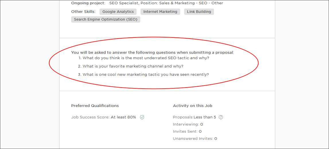 upwork proposal screening questions and answers upwork help