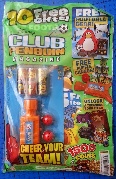 Club Penguin game and magazine review - example football special magazine