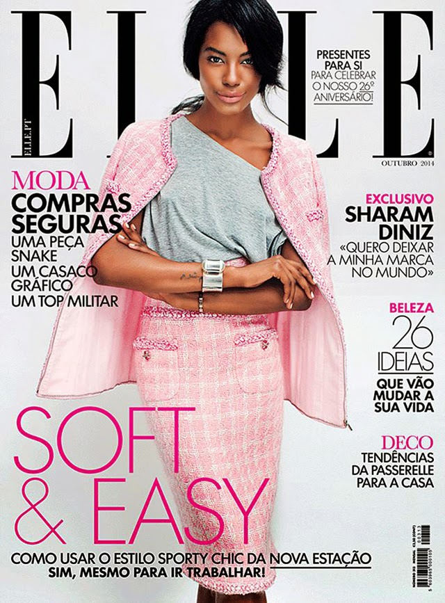 Pink Chanel suit elle cover