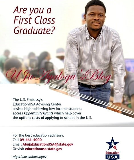 #EducationUSA: US Embassy Announces Scholarships to Nigerians...Here's All the Details You Need to Know