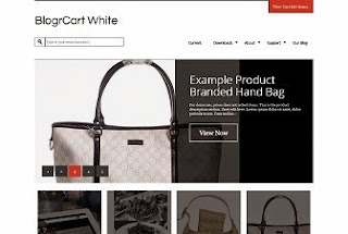 BlogrCart White Blogger Template
