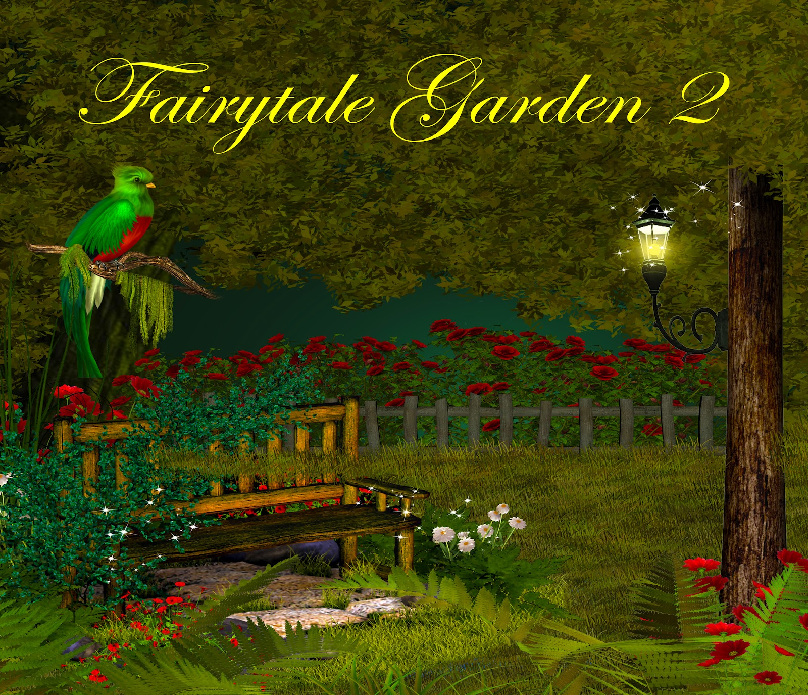 Fantasy Backgrounds Fairytale Garden 2 Digital PNG Tube Files Tubes PSD Layers Photo Background Props