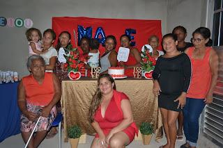 Festa em comemoração dias das Mães  na escola do EJA em Cacimbinhas-AL.