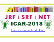 Subject Group-Wise Recommended Book for ICAR JRF SRF ARS NET Exam-2018