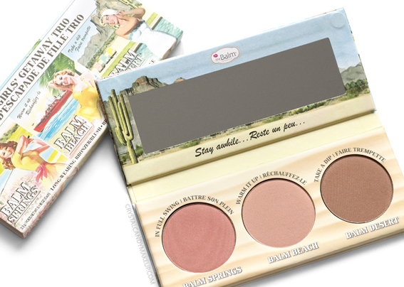 TheBalm Girls Getaway Trio Cheek Palette Review Photos Swatches