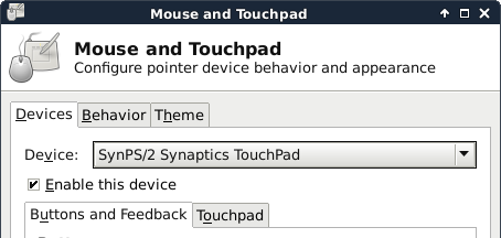 DEBIAN SYNAPTICS TOUCHPAD DRIVER