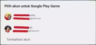Pilih akun google play