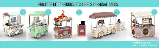 Projetos de carrinho para churros personalizados