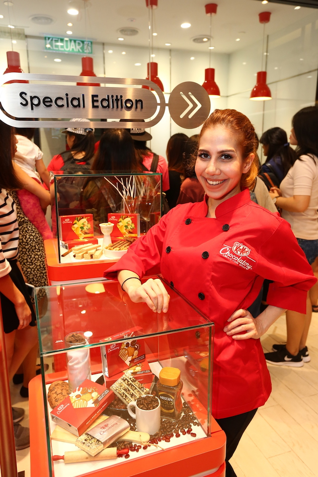 "Collaboration between KitKat ""Chocolatory and celebrity Anis Nabilah"