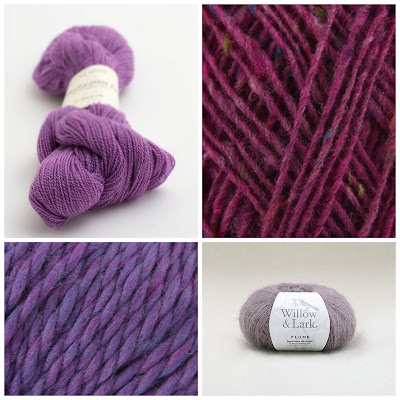 Four types of yarn ultra violet coloured