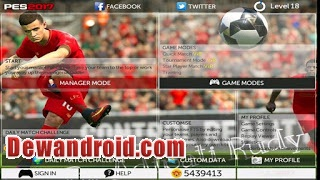 FTS Mod Update PES 2017 Apk v3 by Rudy