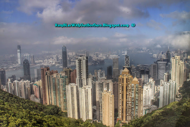 Panorama, Aerial from Victoria Peak, Hong Kong