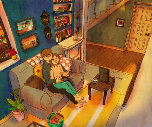 Aşk birlikte video oyunları oynamaktır