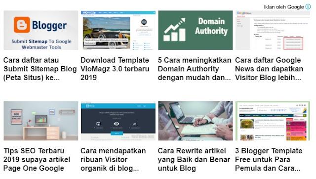 cara memasang iklan matched content di blog, cara mendapatkan iklan matched content di blog