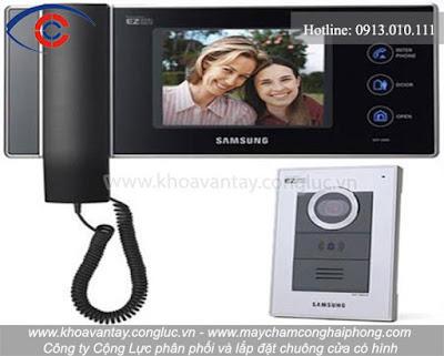 Sản phẩm chuông cửa có hình thương hiệu Samsung.