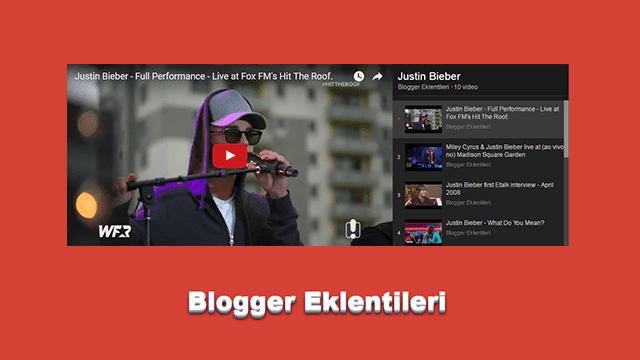 Blogger Youtube Video Listesi Oluşturma