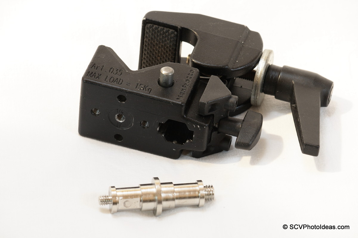 Manfrotto Super Clamp 35 bottom view - Double stud aside
