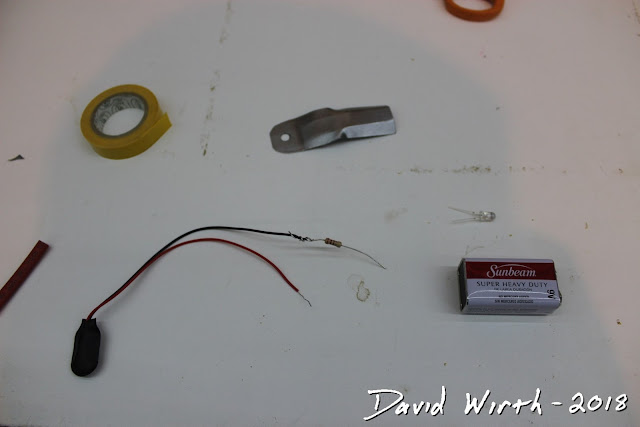 parts to add light to miter saw