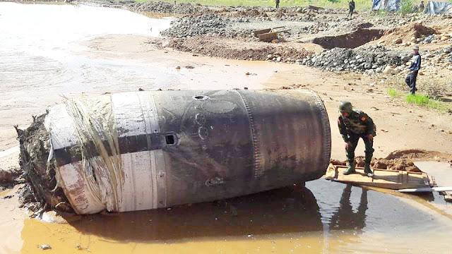 На півночі М'янми щось упало