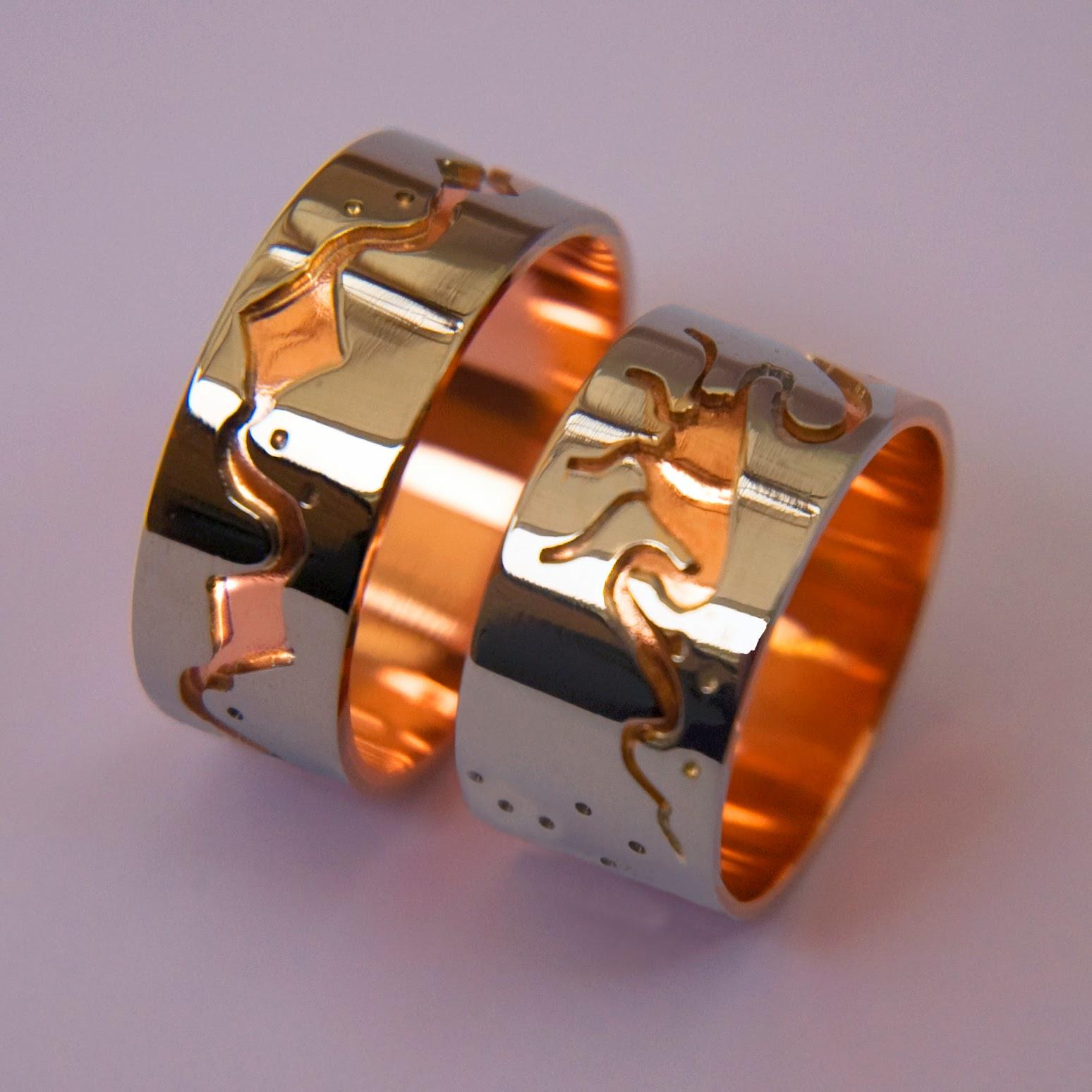 native american wedding rings native american wedding bands Native american wedding rings Bimaadiziwin Ziibii Wedding Bands By Native Woodland Jeweler Zhaawano