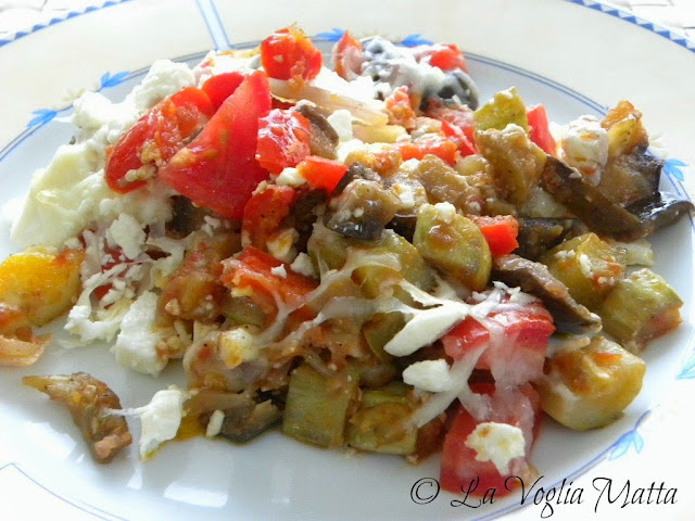 padellata di verdure e feta cena Villa Kalogris
