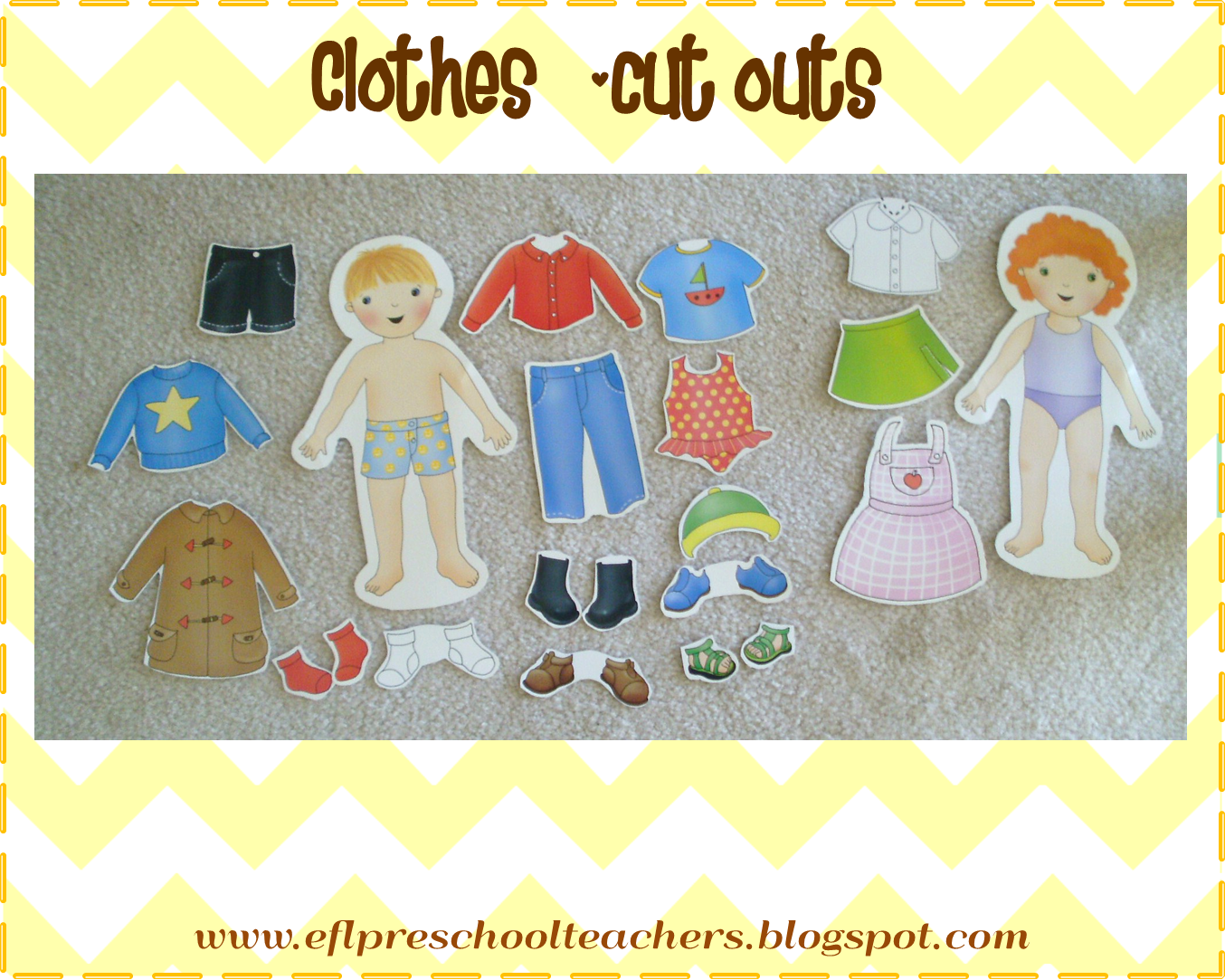 Esl Efl Preschool Teachers Clothes Theme For Preschool Ell