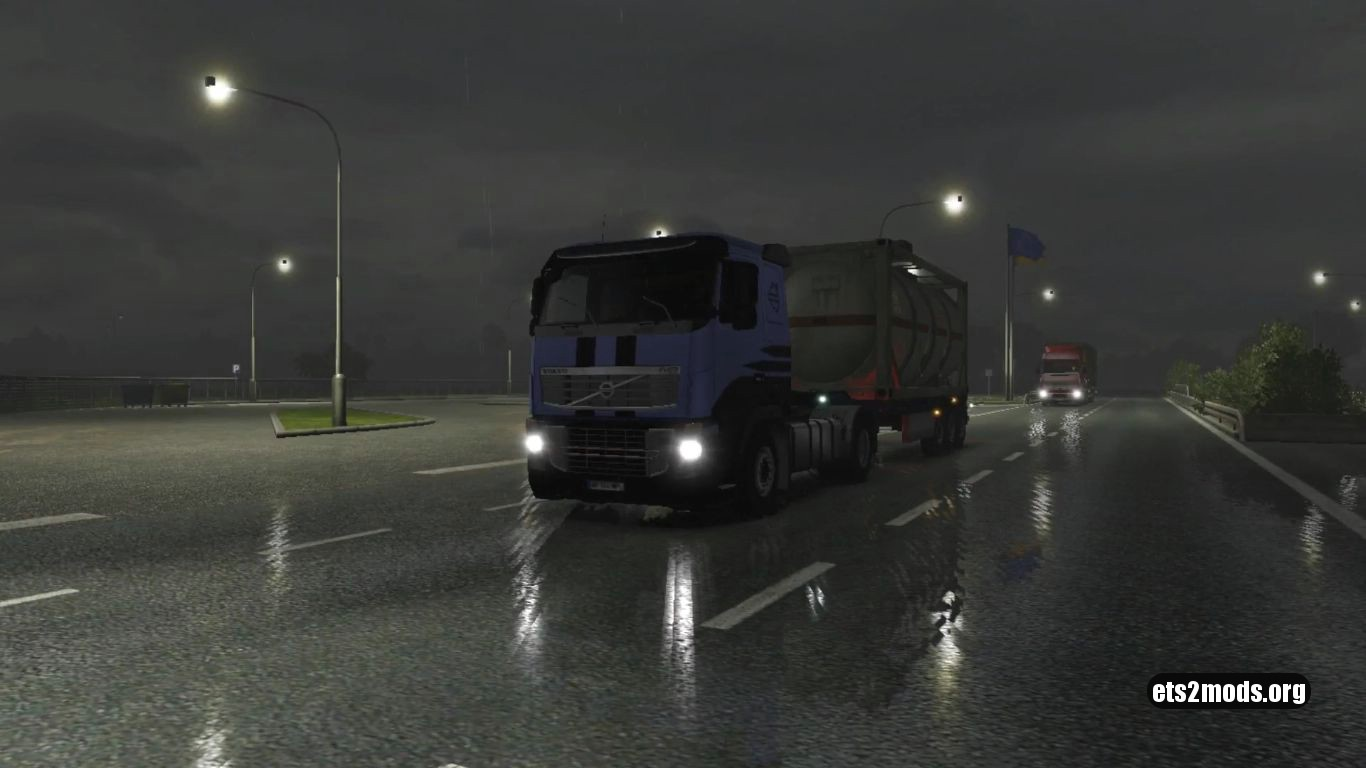 Realistic low visible rain stripes and reflections