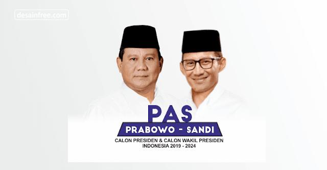 Spanduk Prabowo-Sandi Format CDR