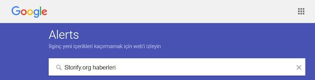 google alerts kullanımı