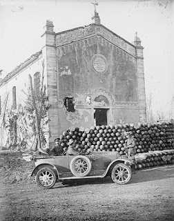 Artillery shells stockpiled in Crocetta, which was on the front line in World War One