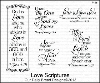 Stamps - Our Daily Bread Designs Love Scriptures