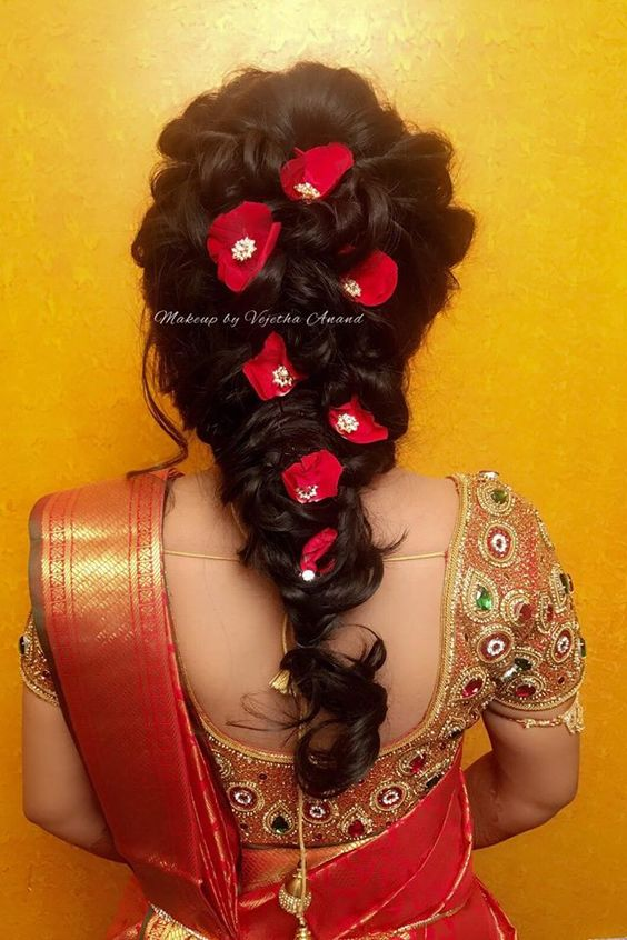 9 Stunning Reception Hairstyles For 2018   Indian Beauty and Lifestyle blog