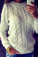 Pulover tricotat cu torsade
